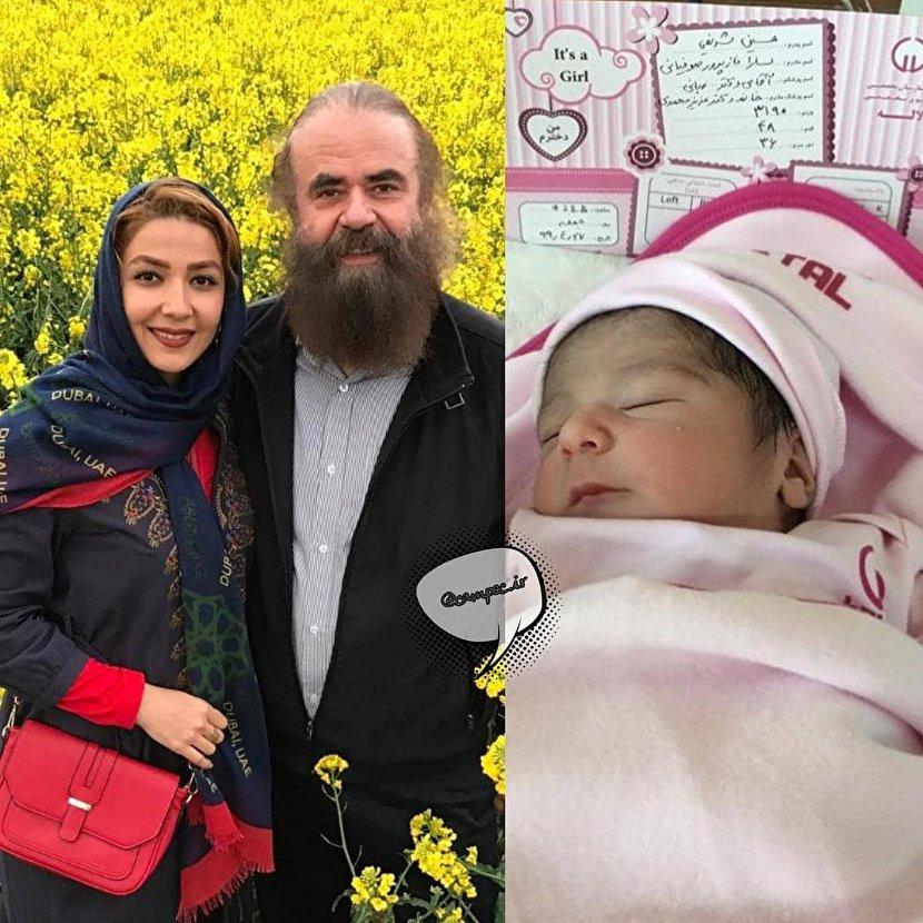 دختر سارا صوفیانی و همسر بازیگرش به دنیا آمد