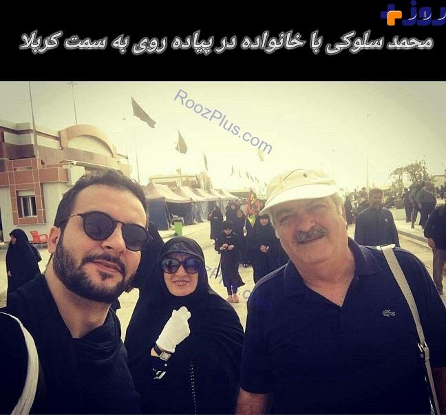 مجری مشهور و خانواده اش در پیاده روی اربعین