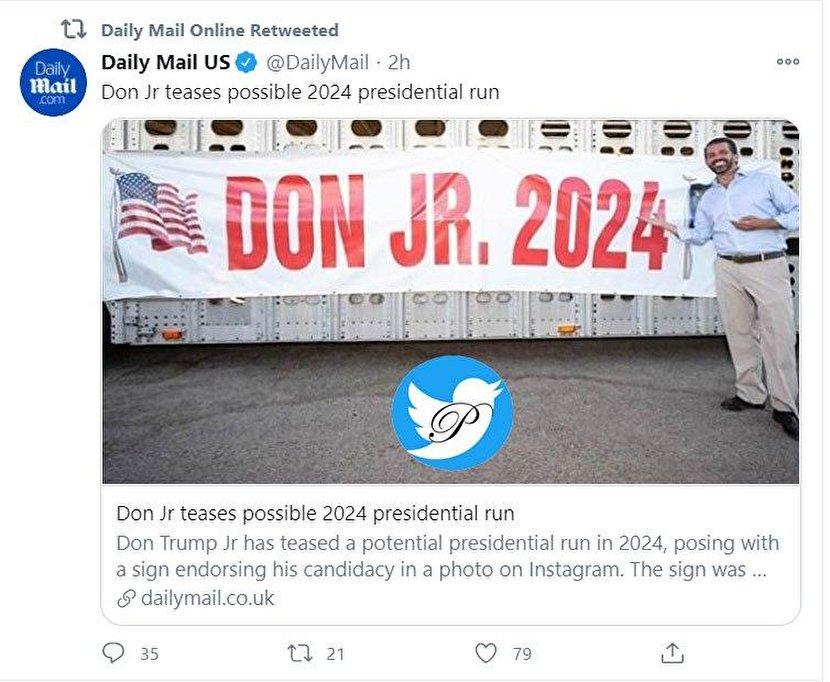 عکس: رویای پسر ترامپ برای انتخابات ۲۰۲۴ آمریکا