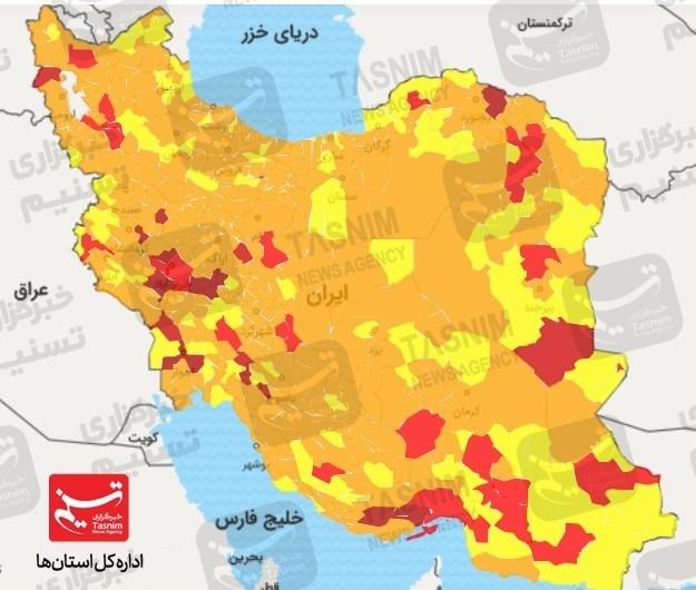 نقشه وضعیت کرونایی