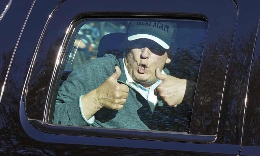 عکس عجیب ترامپ یک روز پس از باخت در انتخابات