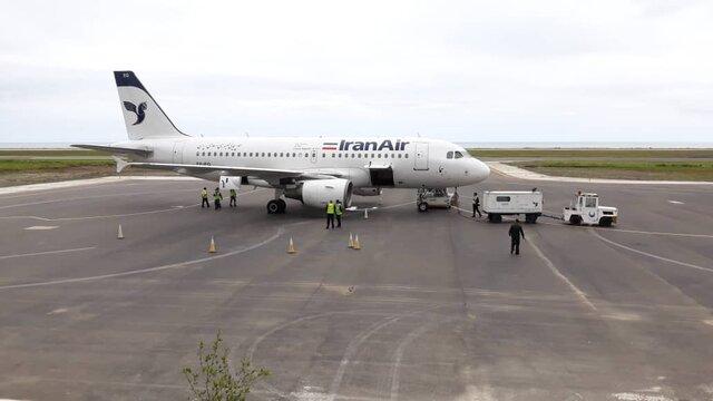 ورود ایرباس پس از ۵۲ سال به فرودگاه رامسر +عکس