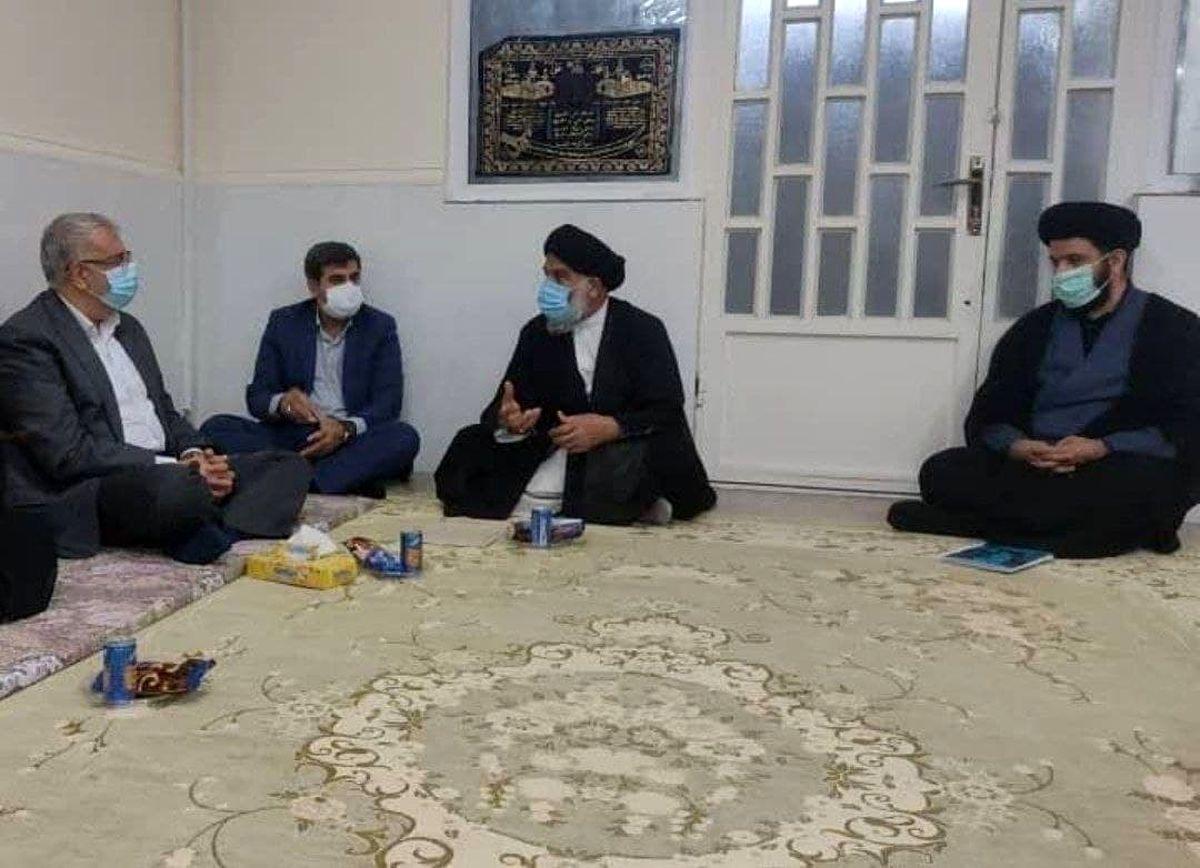 دیدار وزیر نفت با حجت الاسلام موسوی امام جمعه اهواز +عکس