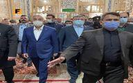 نخست وزیر عراق درحرم مطهر امام رضا(ع)  +عکس