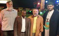 مهران رجبی در کنار آقای شفر تازه مسلمان شده +عکس