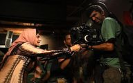 تصویر دیده نشده از الناز شاکردوست پشتصحنه فیلم نرگس آبیار