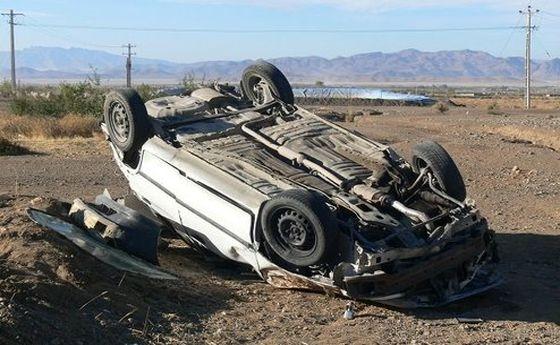 مرگ ۵ جوان ۲۰ ساله در واژگونی مرگبار خودرو
