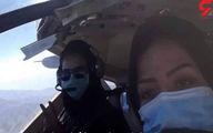 پرواز مستقل خلبان و کمکخلبان زن هواپیمای نظامی تیتر خبرها شد +عکس