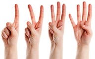 شمارش را با انگشت به کودکان یاد دهید