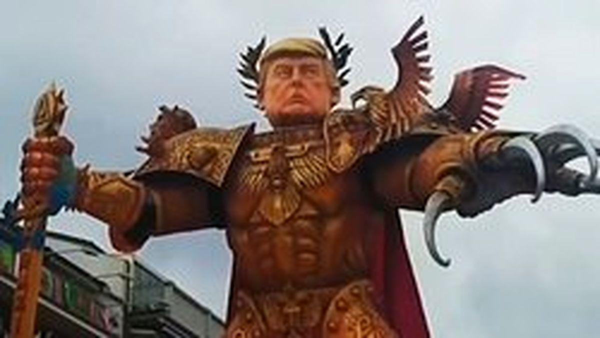 ساخت مجسمه اعتراضی ترامپ اینبار در ایتالیا