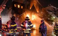 تصاویر: آتش سوزی کلیسای تاریخی نیویورک