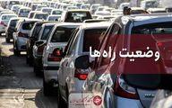 بارش پراکنده باران درجاده های ۴ استان
