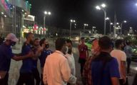 درگیری شدید بازیکنان استقلال با هواداران در فرودگاه +فیلم