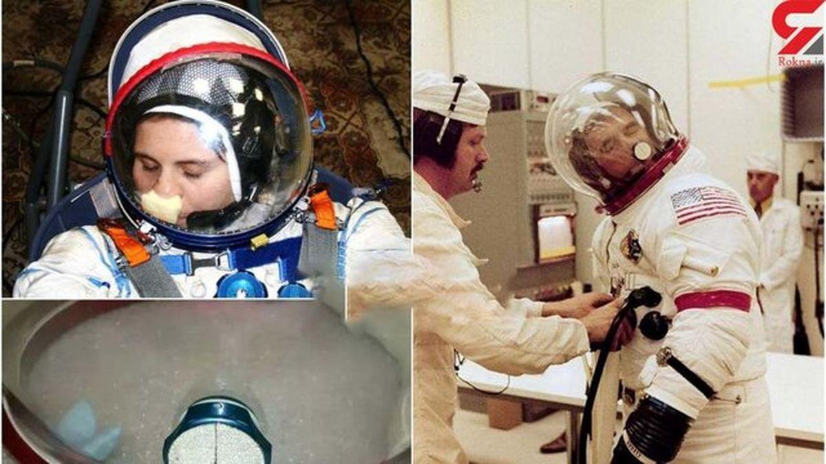 راهکار جالب فضانوردان برای خاراندن بینی+عکس