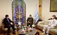ضرغامی با فرمانده کل ارتش دیدار کرد +عکس