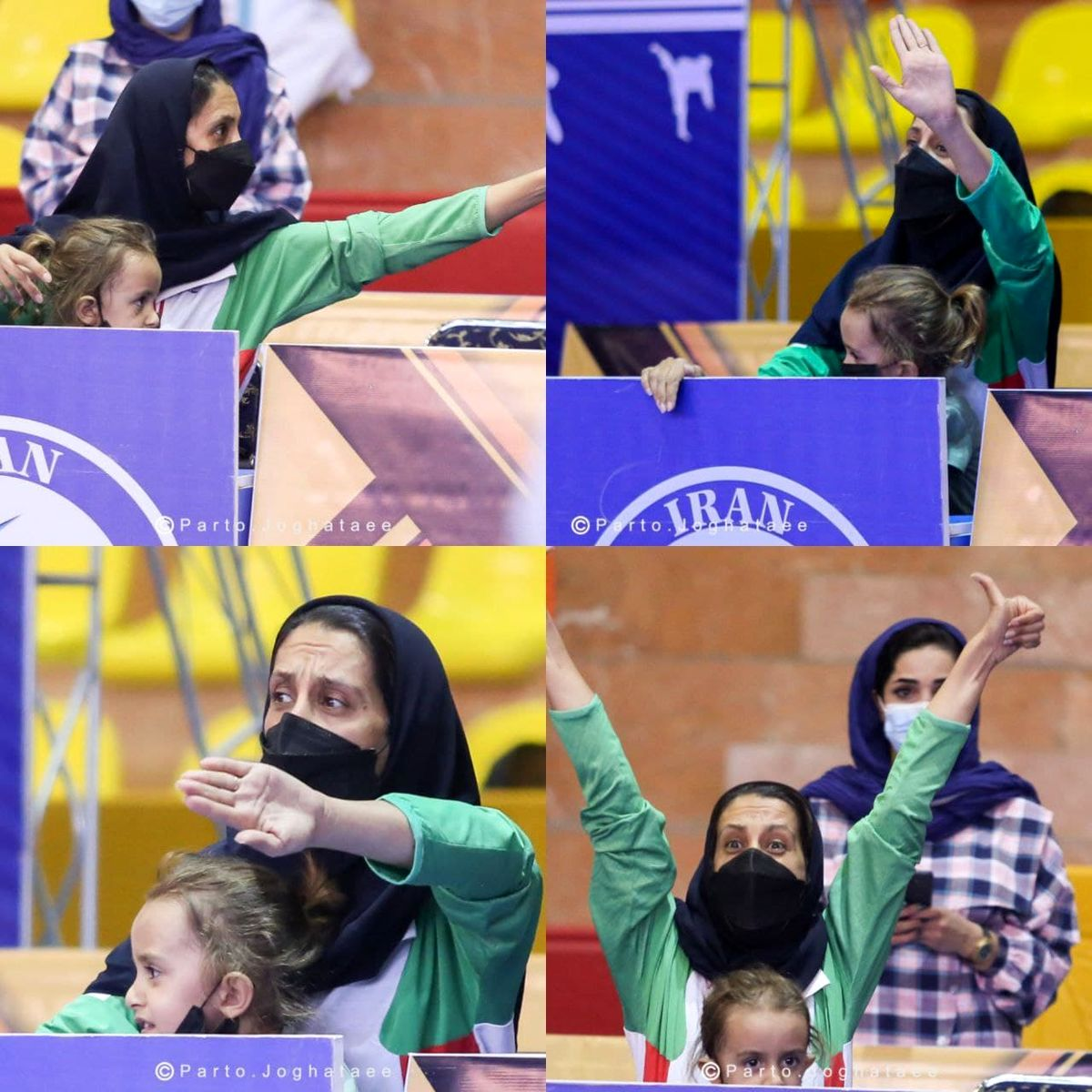 عکسی متفاوت از مربی کاراته زنان ایران