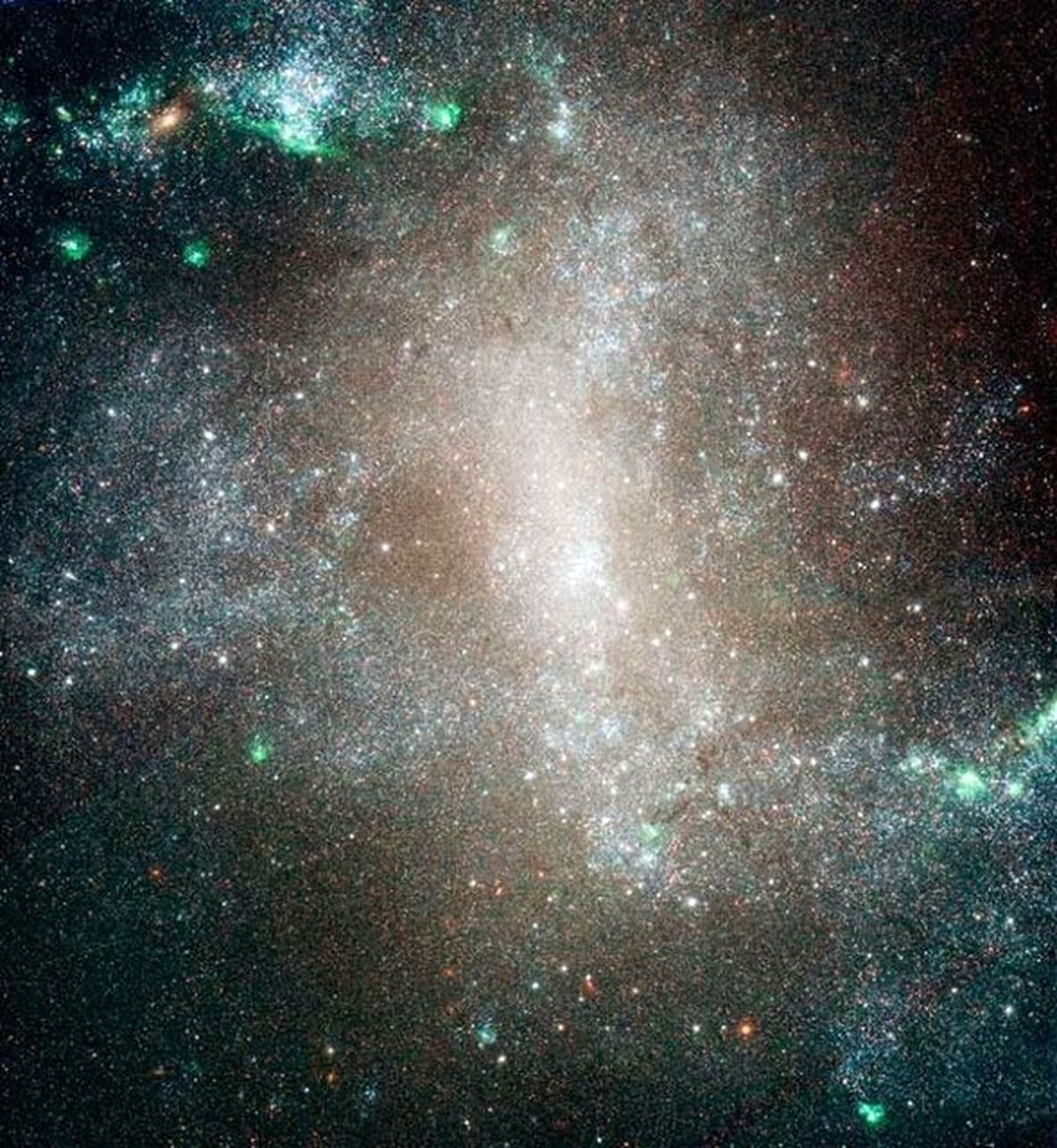 تصویر باشکوه یک کهکشان مارپیچی