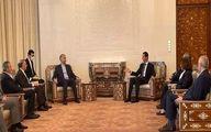 استقبال بشار اسد از وزیر خارجه ایران