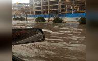 تصویری از بارندگی شدید امروز در تهران