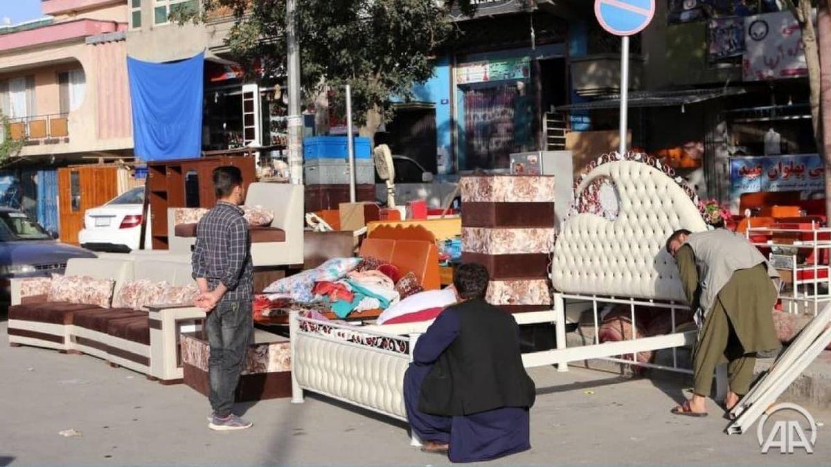 صحنه عجیب در خیابان های کابل +عکس