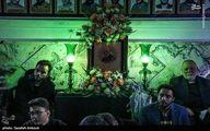 عکس: فرزند شهید سلیمانی در مراسم عزاداری کرمان
