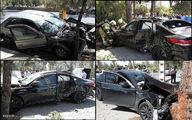 تصادف ۲ خودرو در جاده تهران قم +عکس