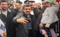 عکس: سلفی احمدی نژاد در راهپیمایی