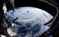 تصاویر فضایی شگفتانگیزی از طوفان «ترامی»