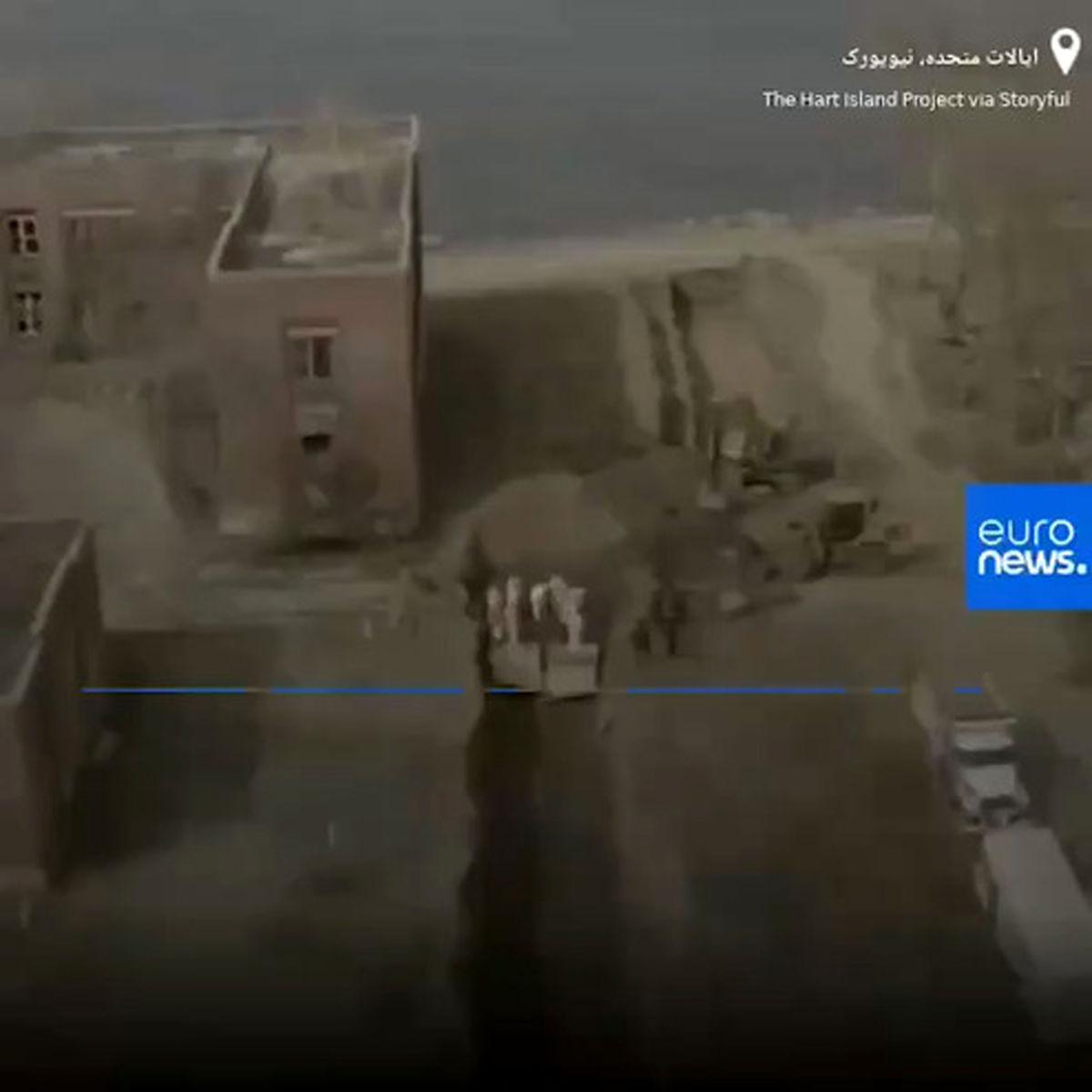 تصاویر پهپادی تکاندهنده از محل «دفن دستهجمعی» قربانیان کرونا در نزدیکی نیویورک +فیلم