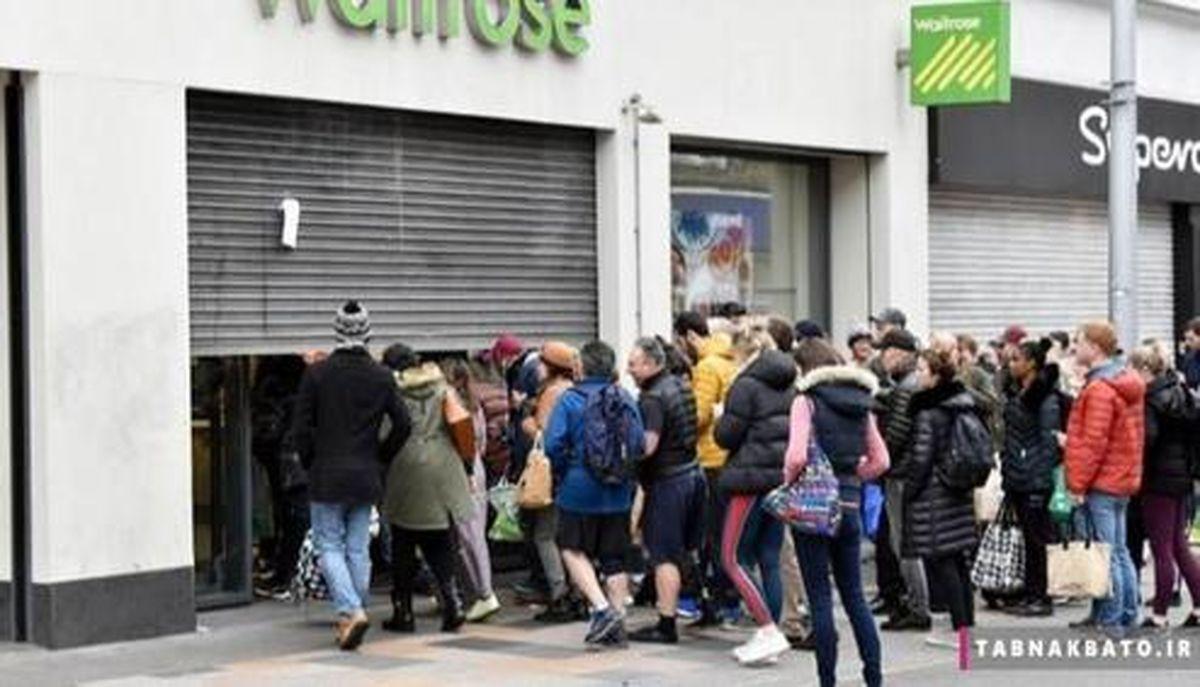 جنون کرونا در انگلستان +تصاویر