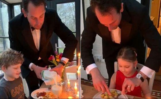 ابتکار جالب برای برگزاری جشن تولد حین قرنطینه خانگی! +عکس و فیلم