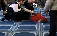یک فرد با چاقو به حاضران در مسجدی در لندن حمله کرد +عکس