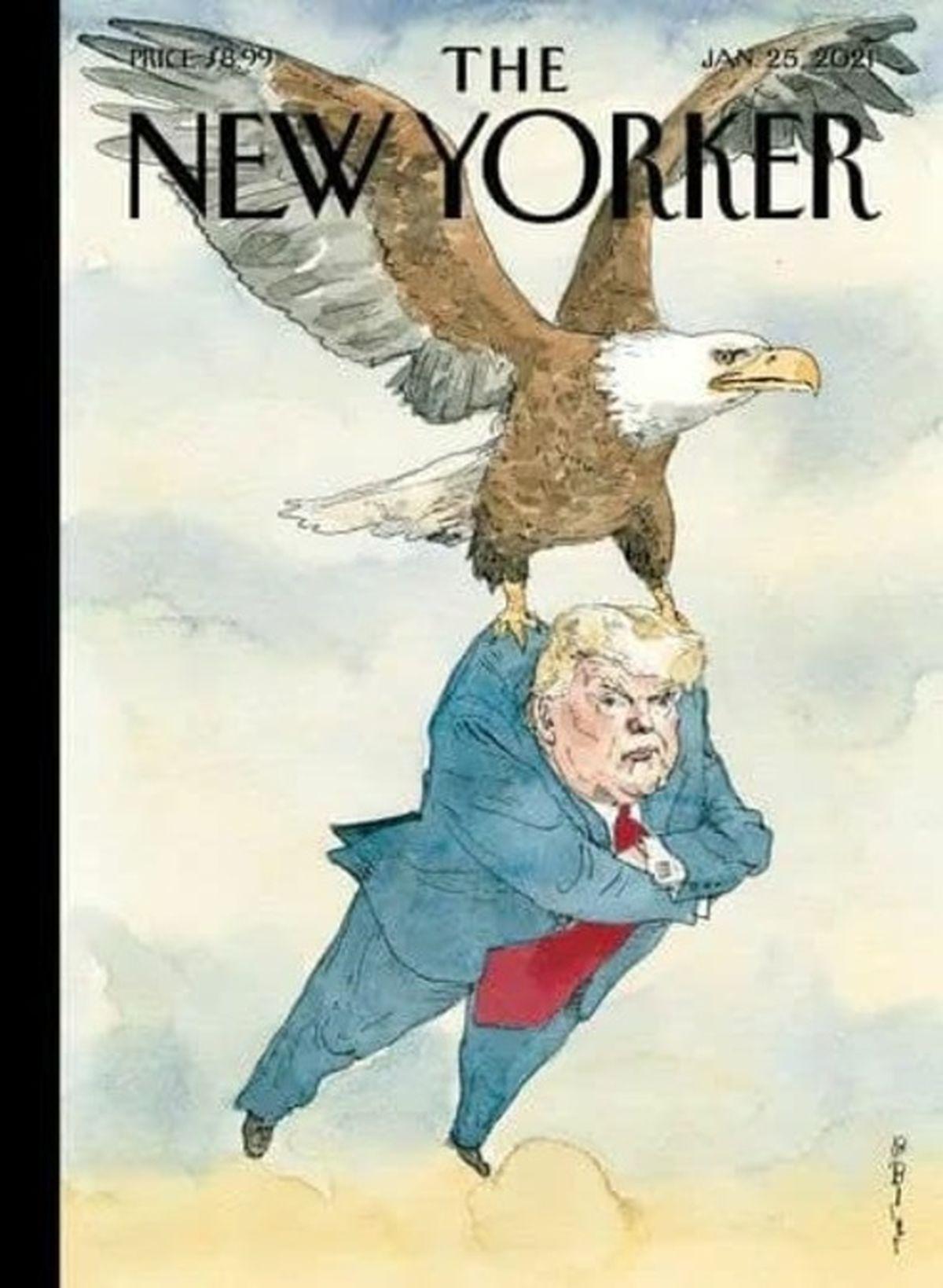 طرح جالب مجله نیویورکر درباره پایان دوره ترامپ +عکس