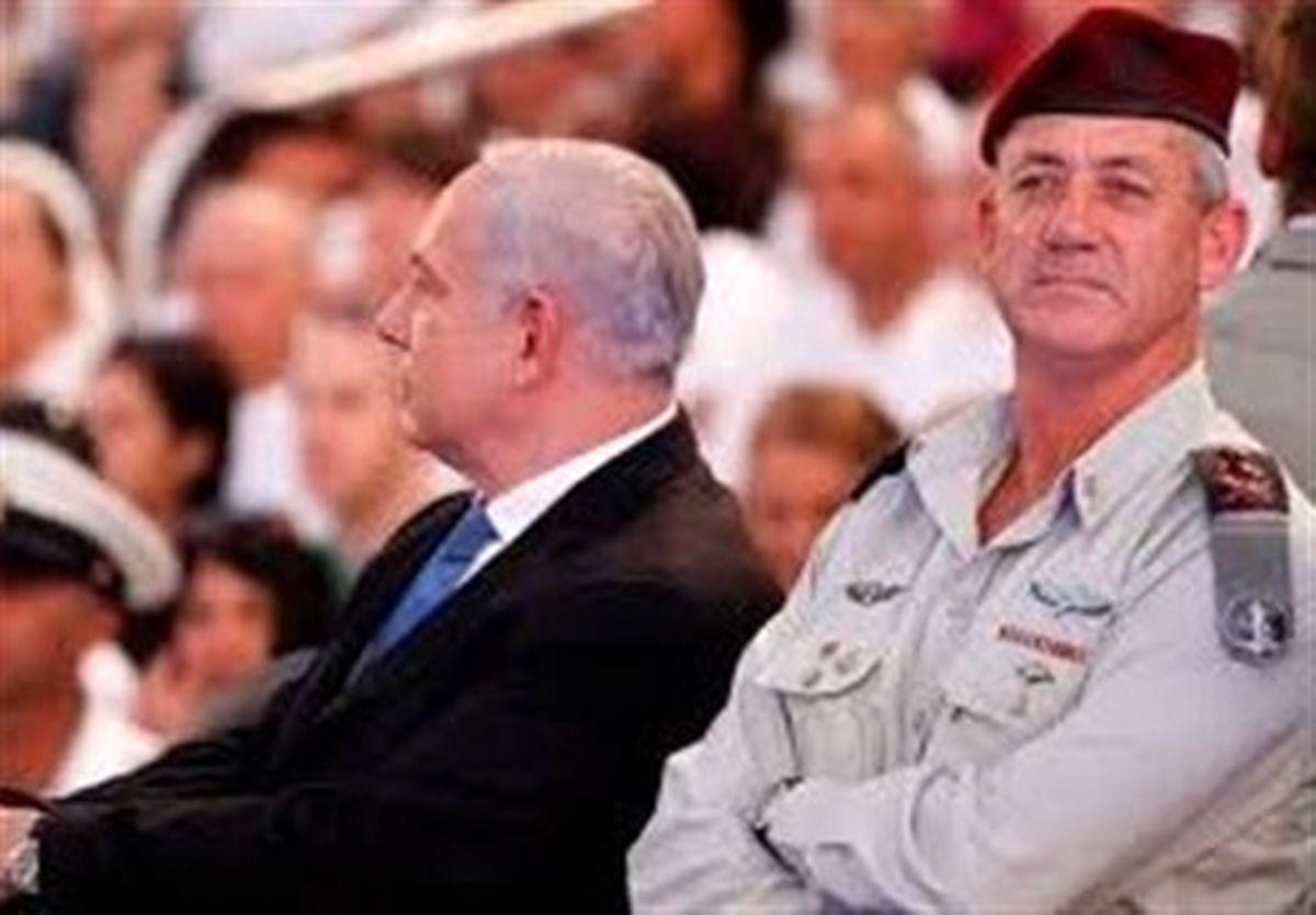 رژیم اسرائیل|اولین نشانههای اختلاف نتانیاهو و گانتس