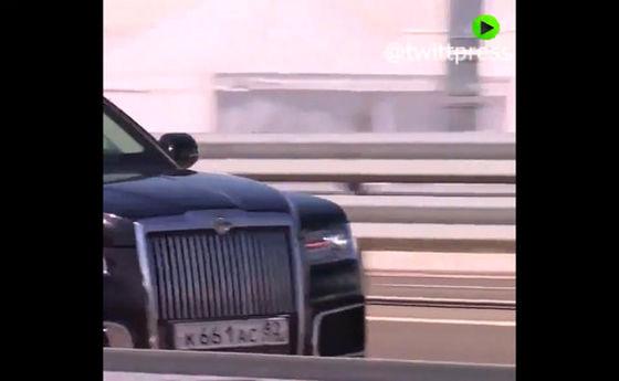 حرکت جالب پوتین در حال رانندگی +فیلم