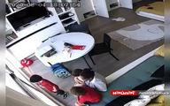 فیلمی از یک مادر و سه کودکش در لحظه انفجار بیروت