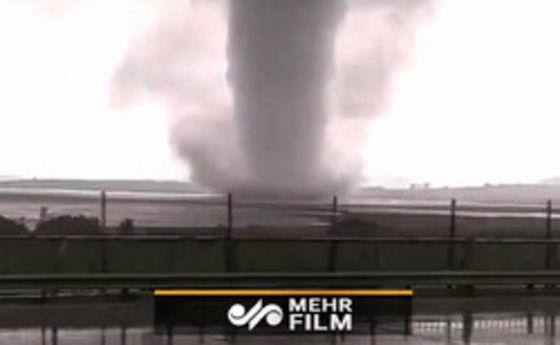 گردباد مهیب در استانبول +فیلم