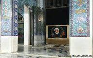 تصویر حاج قاسم بر دیوار حرم حضرت زینب (س) نقش بست +تصاویر