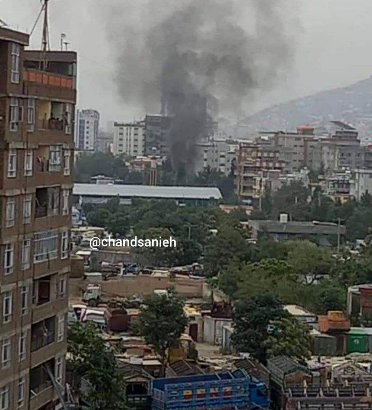حمله راکتی طالبان  به کاخ ریاست جمهوری در کابل +عکس