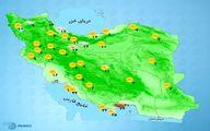 باد شدید در تهران +نقشه آب و هوای استان ها