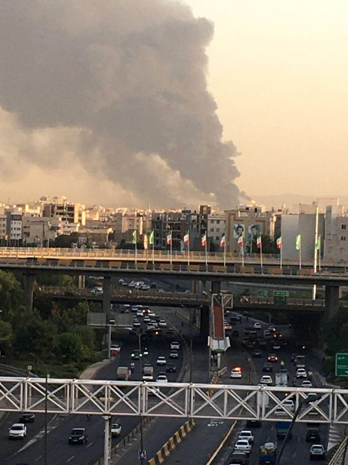 تصویر دود غلیظ از مناطق جنوبی تهران