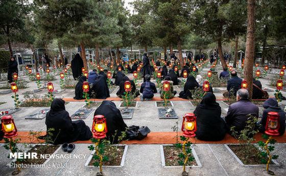 خاکسپاری پیکر دو تن از همرزمان سردار شهید سلیمانی در بهشت زهرا