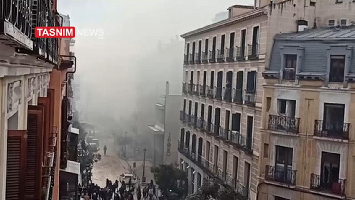 تصویری از محل انفجار در مادرید اسپانیا
