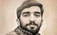 خاک خوری مجسمه شهید حججی در حوزه هنری +عکس