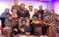خانواده پرجمعیت همسر بازیگر زن معروف ایرانی +عکس