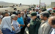 تصاویر: بازدید سرلشکر سلامی از مناطق زلزله زده سرپل ذهاب
