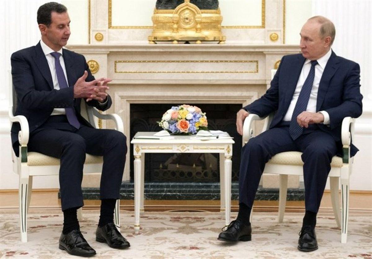 پوتین و اسد در مسکو دست در دست هم/پیام سرپوشیده پوتین برای آنکارا