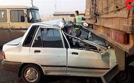 لایی کشی راننده پراید فاجعه آفرید +عکس