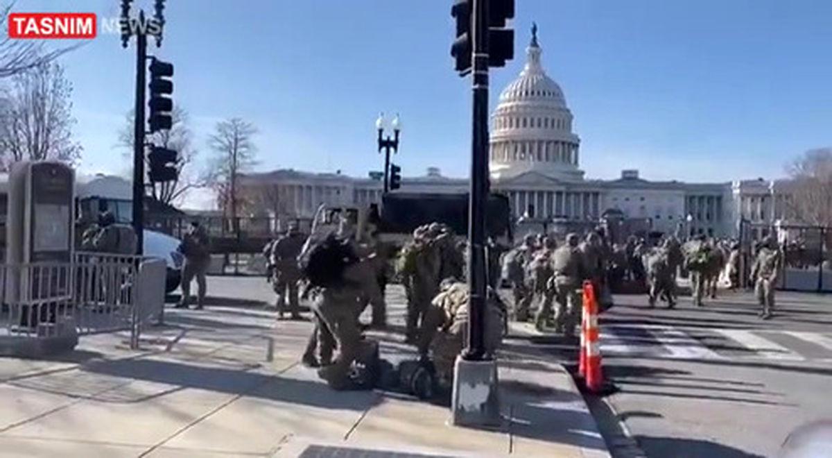 واشنگتن دی سی منطقه نظامی شد! +فیلم