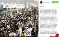 فاجعه منا از نگاه بعیدی نژاد+عکس